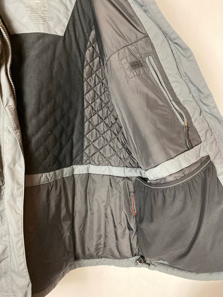 LL Bean Gray Black Winter Jacket Sz XL (f)