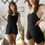 Honey Punch Little Black Romper Sz Small