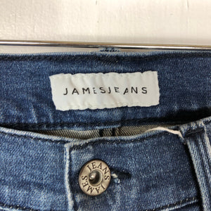 James Jeans Distressed Bermuda Denim Shorts Sz 24 (B)