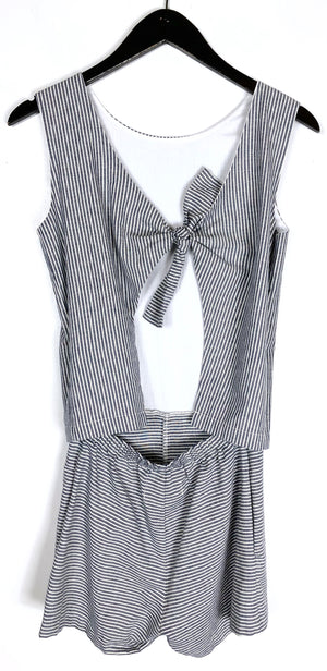 NWT Solid & Striped Michy Blue White Stripe Romper Sz XS (f)