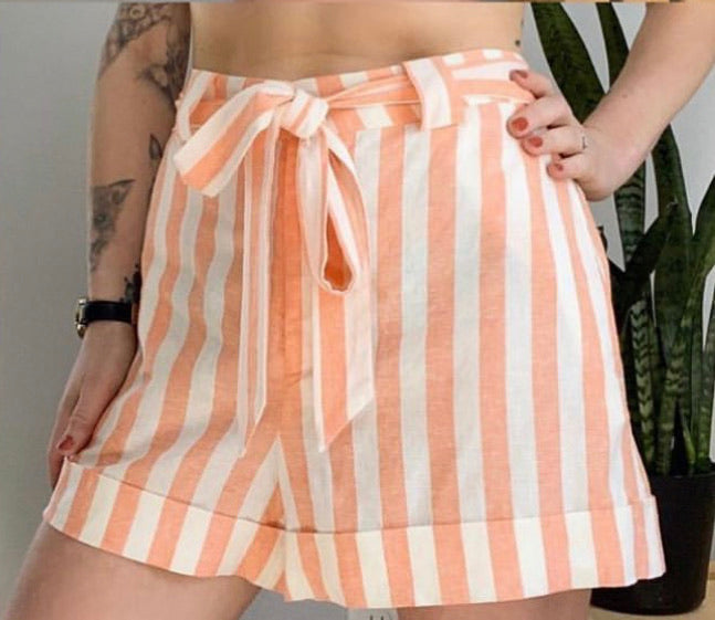 NWT Show Me Your MuMu Hadley Stripe Shorts Sz Large (F)