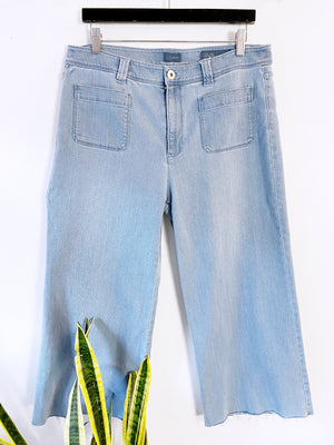 J.Jill Light Wash Denim Wide Leg Sailor Jeans Sz 12 (F)