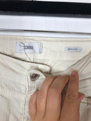 Closed Cream Skinny Jeans Sz 26 (B)
