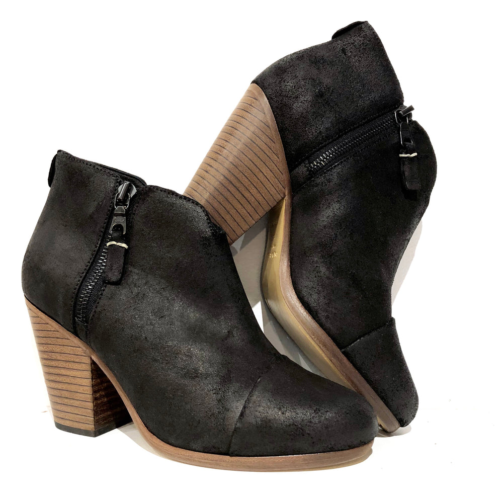 NEW Rag & Bone Black Double Zip Booties Sz 36 (f)