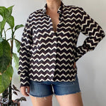 Rag & Bone Patterned Blouse Sz Large