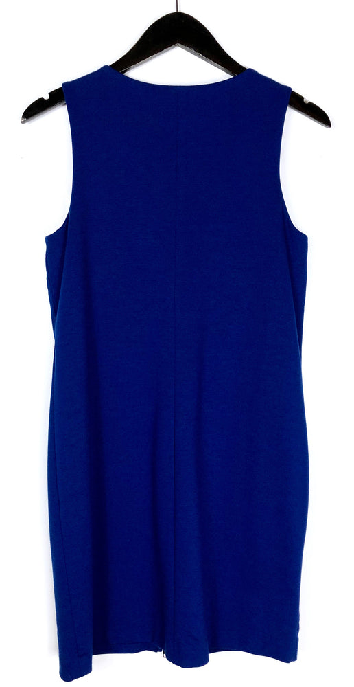 Banana Republic Cobalt Blue Full Zip Sleeveless Bodycon Dress Sz 2 (f)