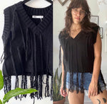 Zara Knit Tassel Sweater Vest Sz Small
