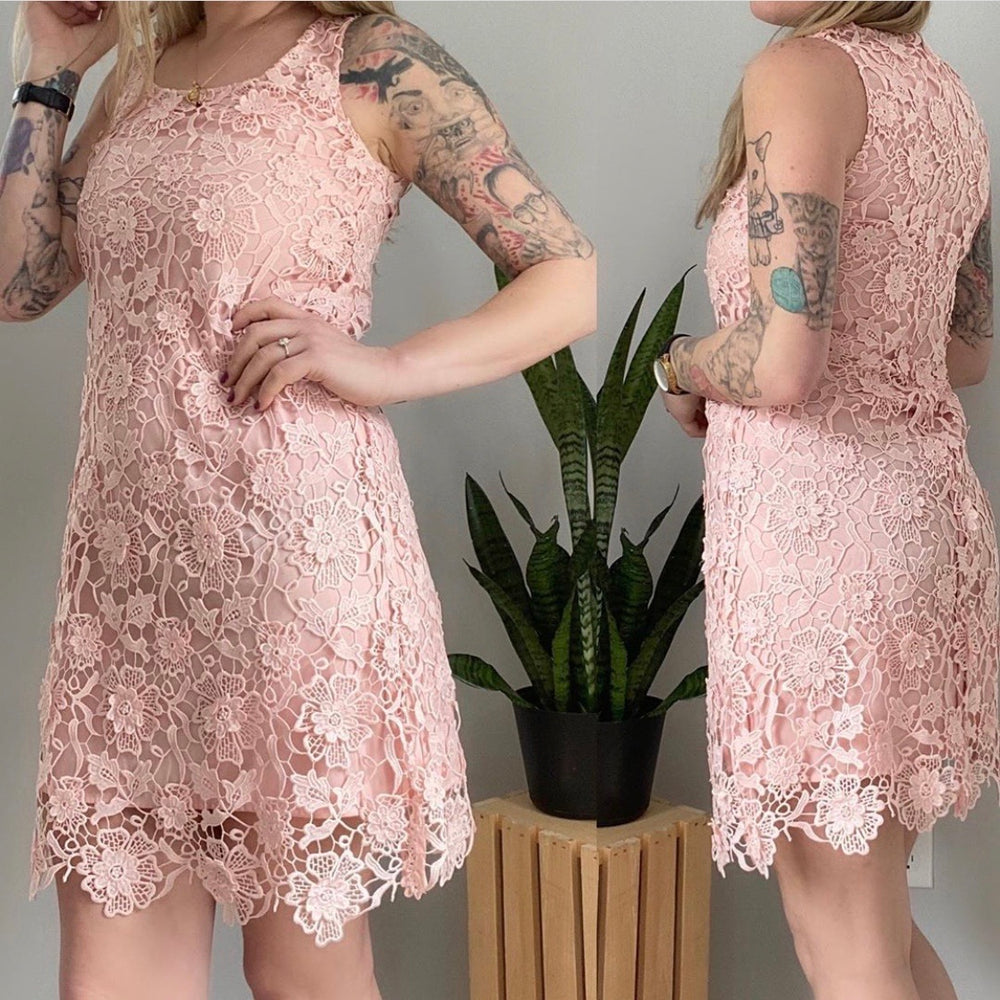Wendy Bird Pink Lace Dress Sz 2 (F)