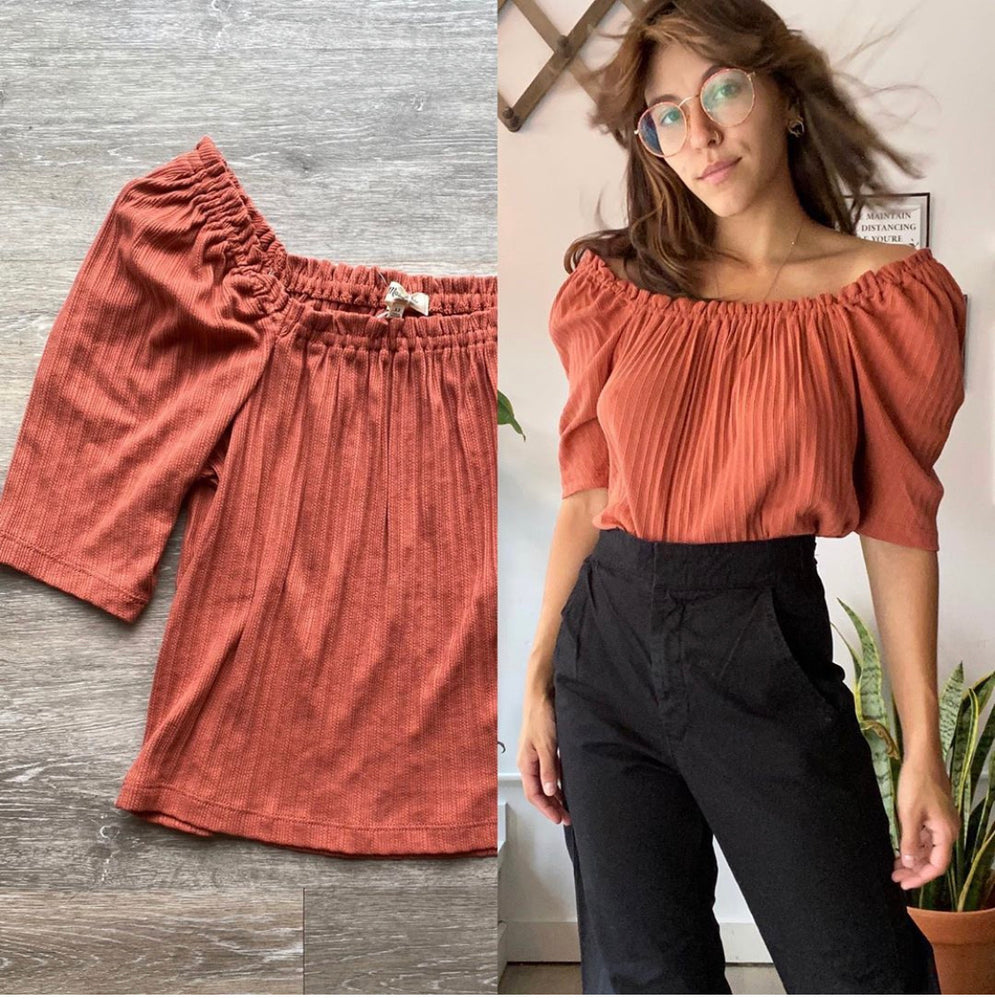 Madewell Ribbed Top Sz XS