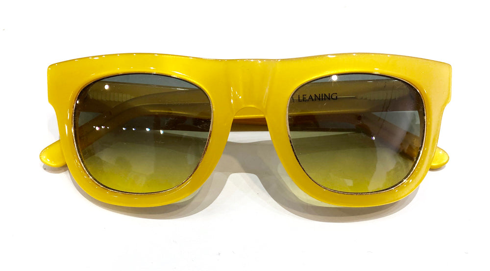 Westward Leaning Yellow Frame Gradient Lenses Sunglasses (f)