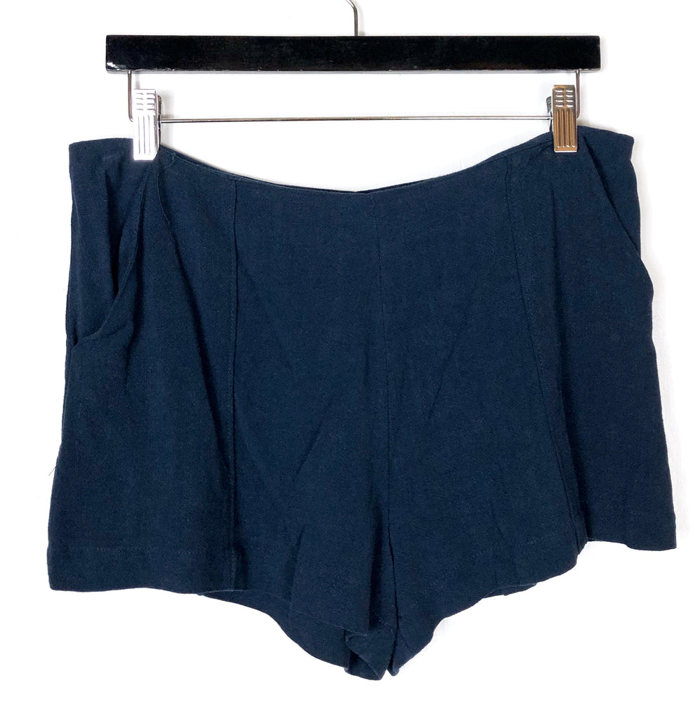 NEW Good Luck Gem Navy Blue Slouch Shorts Sz L & XL (B)