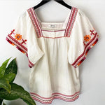 Madewell Daydream Babydoll Embroidered Blouse Sz XS