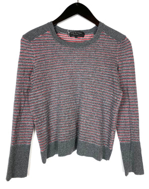 Rag & Bone Pink Gray Textured Sweater Sz XS (f)