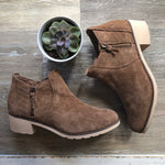 NEW Reef Brown Suede Light Sole Booties Sz 10 (f)