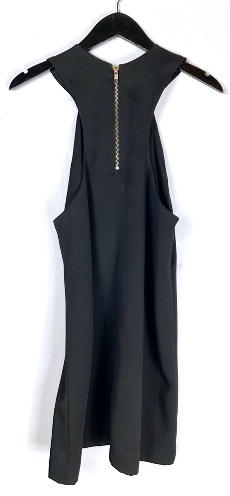 Reformation Black High Neck Sleeveless Mini Dress Sz XS/S (f)