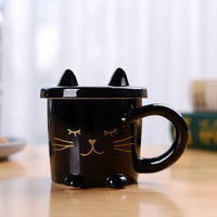 """Coffee Cat"" Tasse mit Deckel - CrazyCatmom"