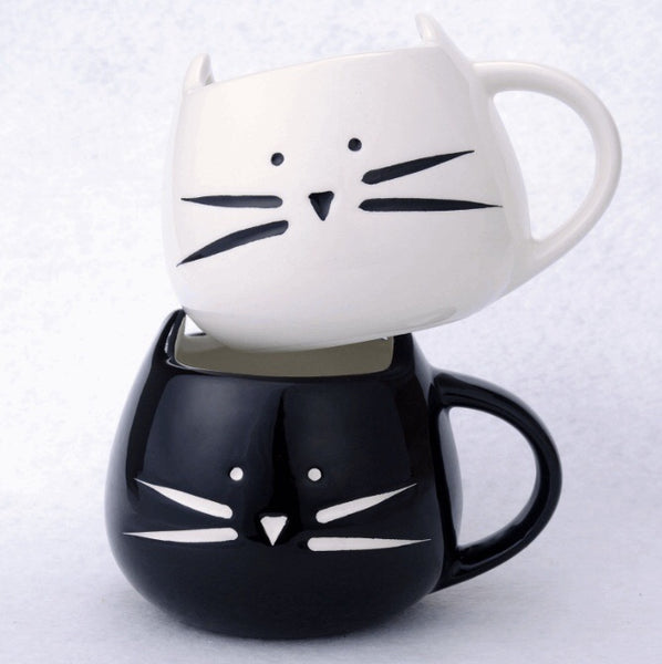 """Kitty Cup"" Jumbo-Tasse - CrazyCatmom"