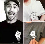 """Middlefinger Cat"" T-Shirt - CrazyCatmom"