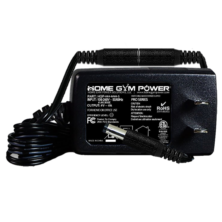 Home Gym Power® AC Adapter With Breakaway Power Cord Compatible With Bowflex Nautilus R514, R514C and U514 Stationary Bikes '9V Models'
