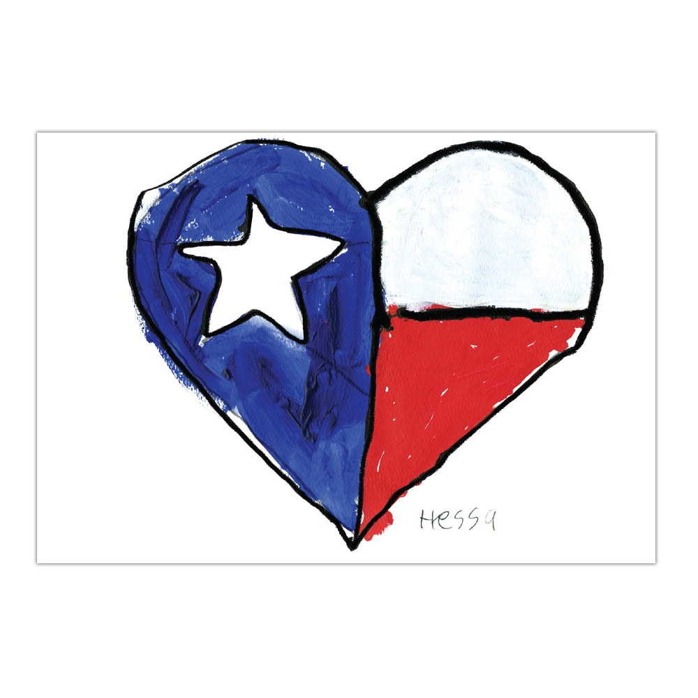 Texas Heart Card 8 cards/9 envs