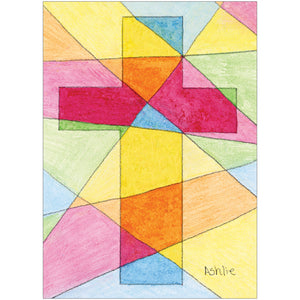 Stained Glass Cross 8 Count