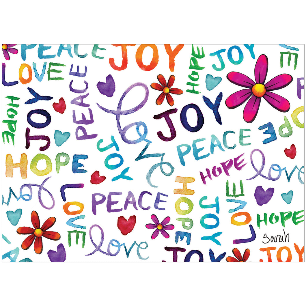 Peace Love Hope Joy 8 Count