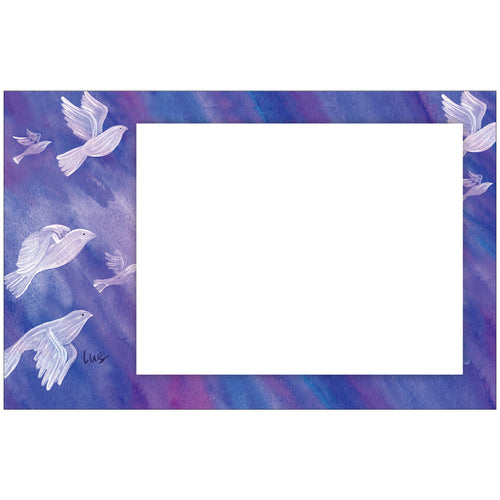 Doves In Flight Photo Card Horizontal by Luis