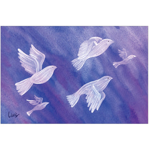 Doves In Flight by Luis