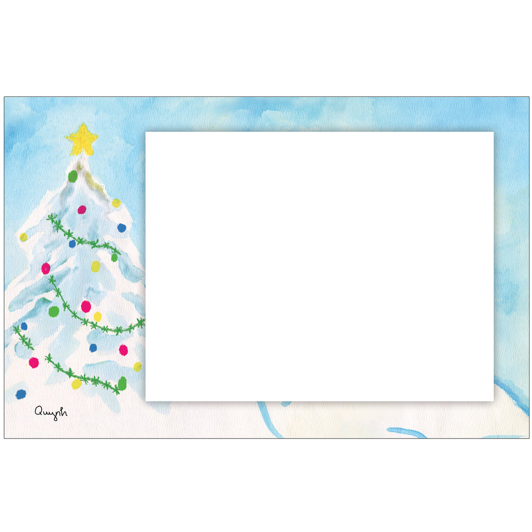 White Christmas Photo Card Horizontal by Quynh