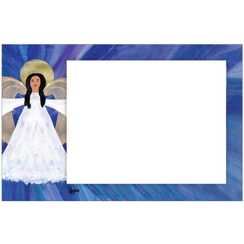 Angel Of Light Horizontal Photo Card by Keyris