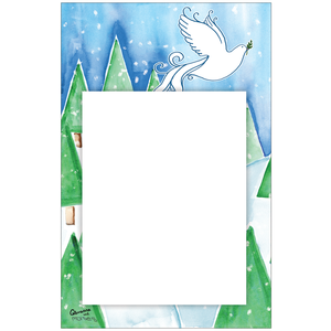 Peace On Earth Photo Card Vertical by Giovanna + Moises