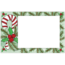 Candy Cane Photo Card Horizontal by Giovanna