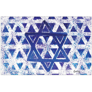 Abstract Hanukkah by Emily