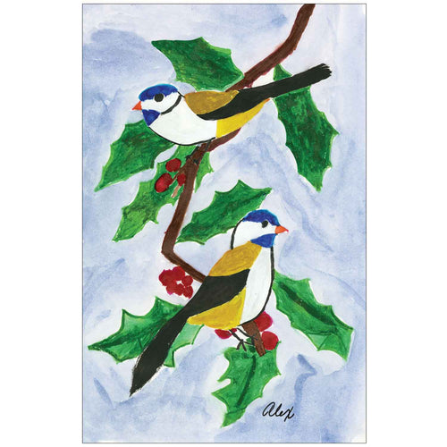 Birds on Holly Branch by Alex