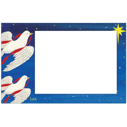 Christmas Dove Photo Card Horizontal by Luis