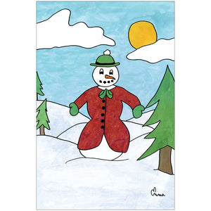 Dandy Snowman by Emma