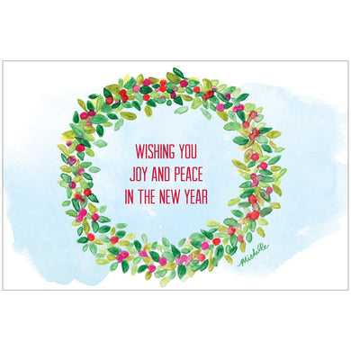 Joy And Peace Wreath by Michelle