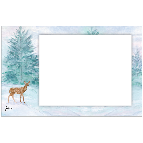 Serene Winter Photo Card Horizontal by Jove