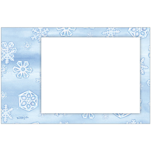 Snowflakes Horizontal Photo Card by Wenjia