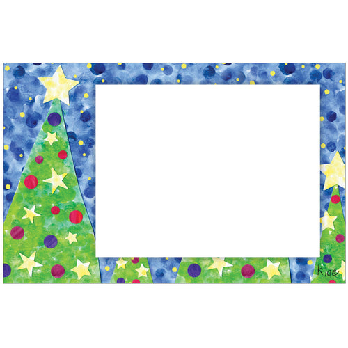 Starry Christmas Photo Card Horizontal by Kloe