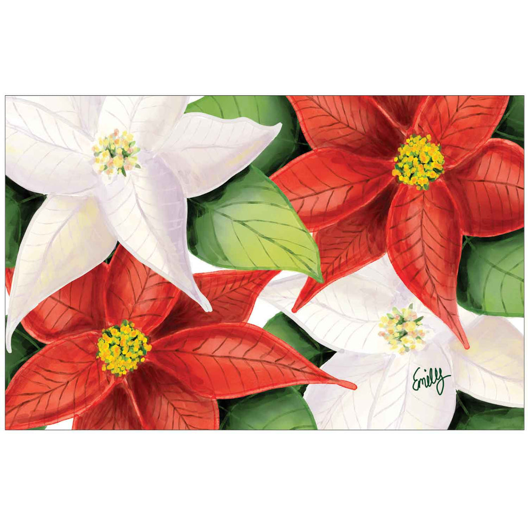 Vibrant Poinsettias by Emily K.