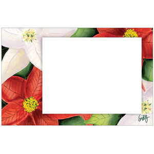 Vibrant Poinsettias Photo Card Horizontal by Emily K.