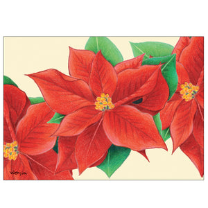 Poinsettia 10 Cards/11 Envs