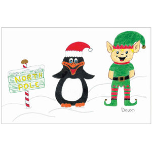 Penguin and Elf by Devon
