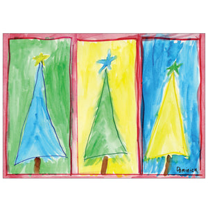 THREE TREES (10 CARDS/11 ENVS)