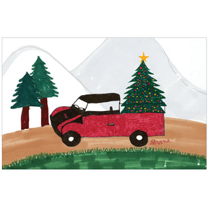 Red Truck Tree by Grant