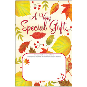 Autumn Leaves Contribution Card