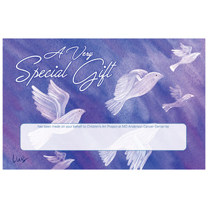Doves In Flight Contribution Card