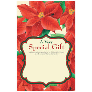 Poinsettia Contribution Card