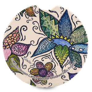 Flower Pattern Car Coaster
